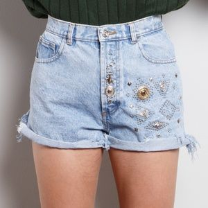 Vintage High Waisted Festival Shorts